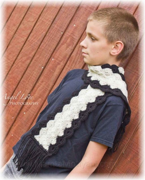 Mens Circle Scarf Crochet Pattern