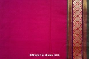 Mexican Pink Indian Saree Fabric