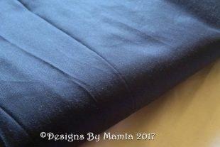 Midnight Blue Indian Silk Fabric