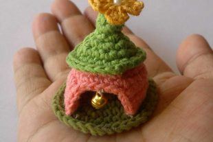 Miniature Crochet Gnome House