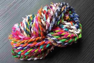 Multi Color Sari Silk Twine