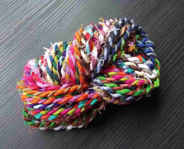 Multi Color Sari Silk Twine