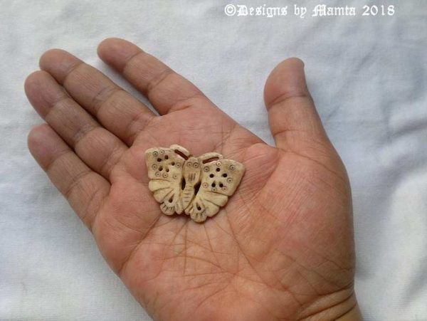 Natural Bone Butterfly Bead