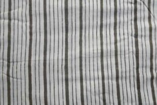 Olive Green Striped Fabric