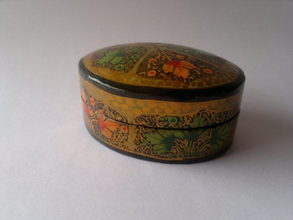 Oval Paper Mache Box 5