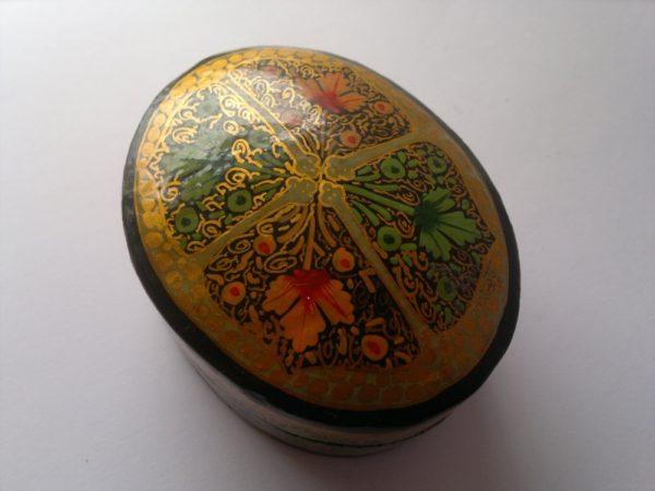 Oval Paper Mache Box 7