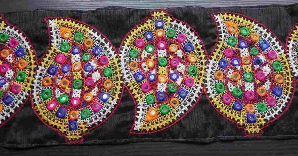 Paisley Embroidered Lace Trim