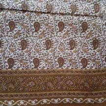 Paisley Print Brown Sari Fabric