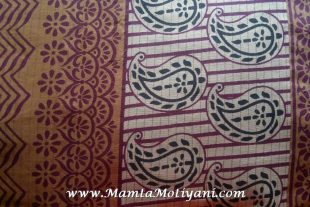 Paisley Print Indian Saree Fabric By The Yard
