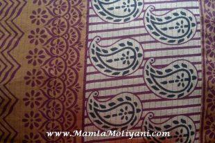 Paisley Print Indian Saree Fabric By The Yard