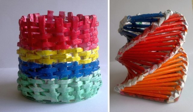 Paper Woven Baskets
