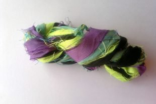 Paradise Tanager Recycled Sari Ribbon Yarn