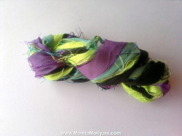 Paradise Tanager Recycled Sari Ribbon Yarn