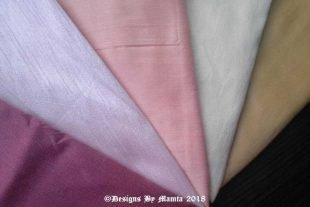 Pastel Wedding Dupioni Fabric Set