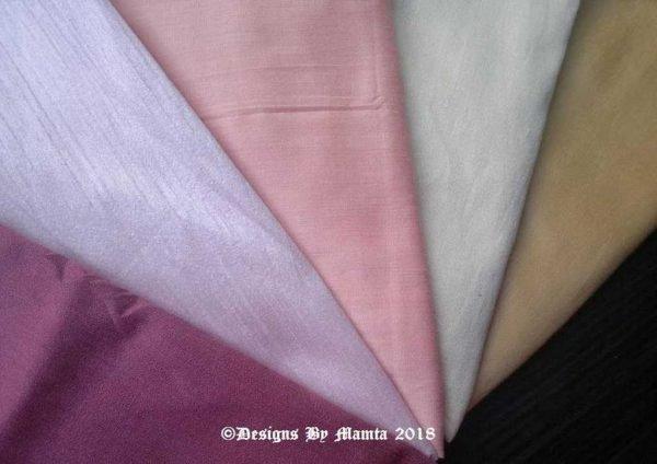Pastel Wedding Dupioni Fabric Set
