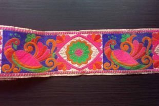 Peacock Embroidered Trim