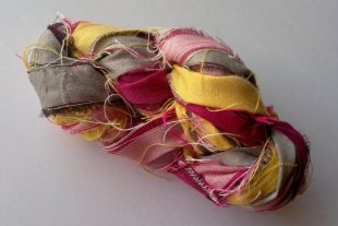 Peony and Nickel Fair Trade Sari Yarn Ribbon