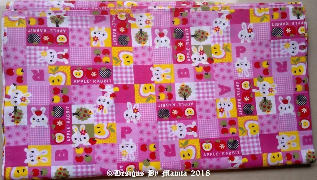Pink Baby Bunny Nursery Fabric