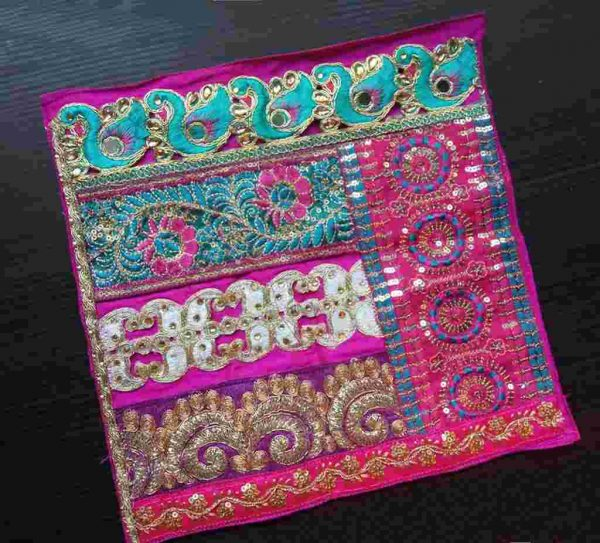 Pink Embroidered Quilt Block