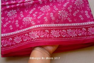 Pink Floral Sari Fabric By The Yard