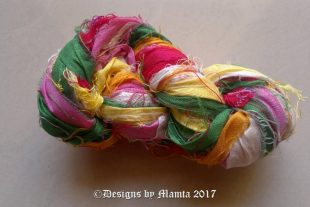 Pink Lotus Silk Yarn Ribbon
