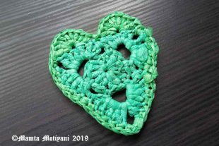 Plarn Heart Applique Crochet Pattern