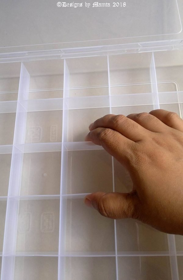Plastic Storage Organizer For Jewelry Craft Supplies