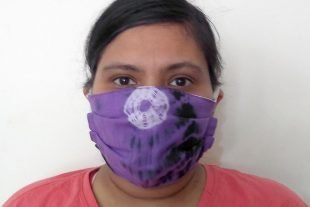 Purple Batik Fabric Face Mask