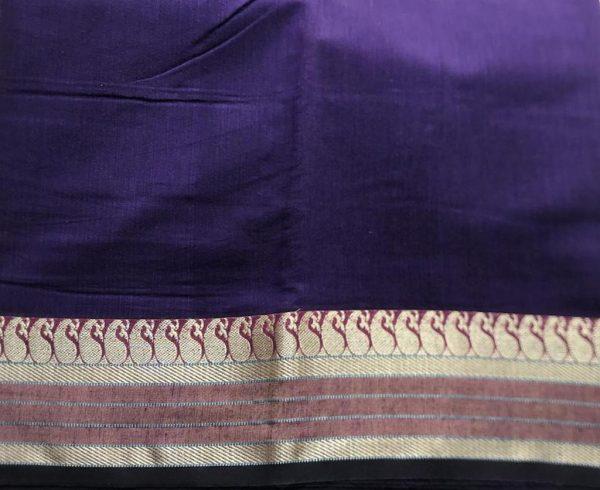 Purple Gold Ilkal Sari Fabric