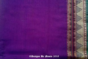 Purple Gold Indian Ilkal Sari Fabric