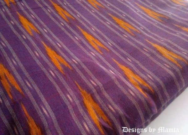 Purple Ikat Fabric