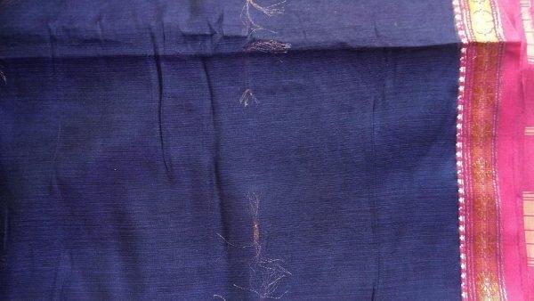 Purple Ilkal Sari Fabric