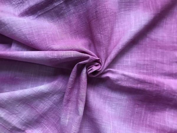 Purple Woven Slub Cotton Fabric