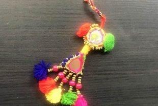 Rainbow Kutchi Mirrorwork Tassels