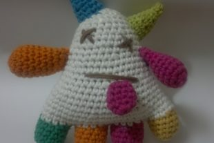 Rainbow Monster Plushie Crochet Toy Pattern