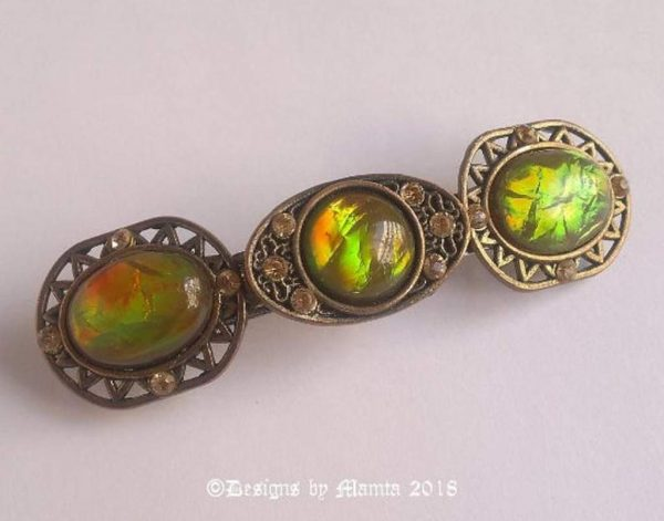 Rainbow Opal Gemstone French Barrette