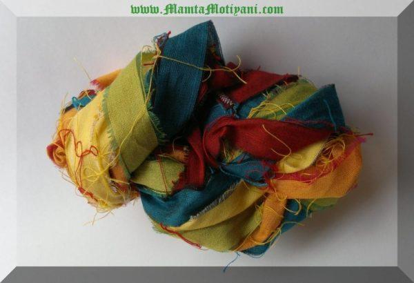 Rainbow Sari Silk Yarn