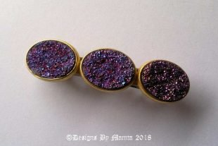 Rainbow Sunset Purple French Barrette