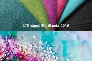 Raindrops On Flowers Fat Quarter Art Silk Fabric