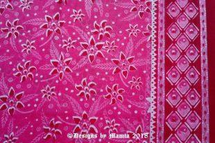 Raspberry Pink Floral Sari Fabric