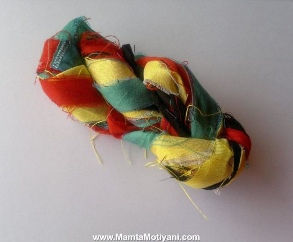 Rastafari Handmade Sari Silk Ribbon Yarn