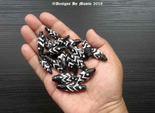 Recycled Paper Art Beads