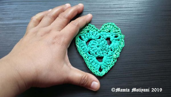 Recycled Plastic Yarn Heart Pattern