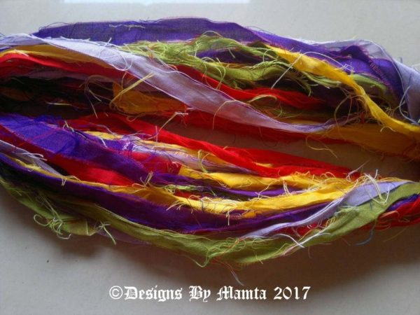 Recycled Sari Ribbon Yarn