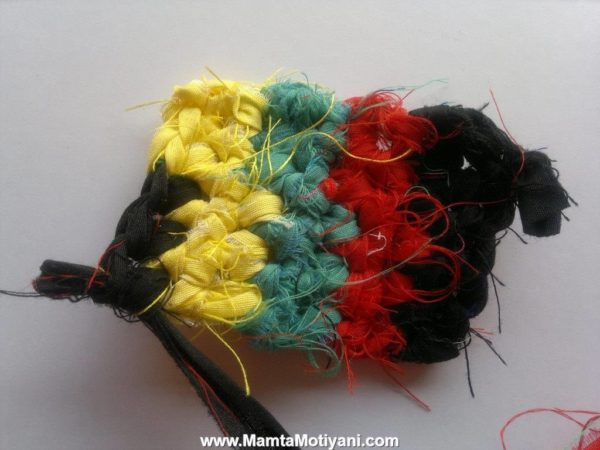 Recycled Sari Yarn Ribbon