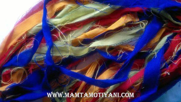 Recycled Sari Yarn Ribbon