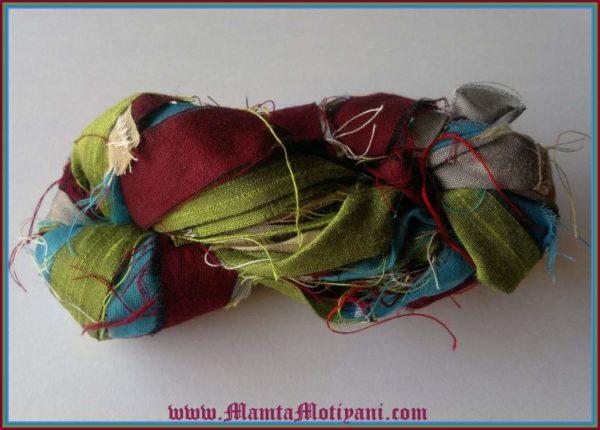 Recycled Silk Sari Yarn