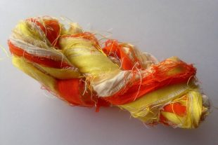 Recycled Silk Sari Yarn Ribbon