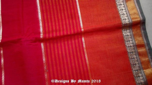 Red Indian Saree Fabric