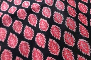 Red Pink Black Paisley Fabric